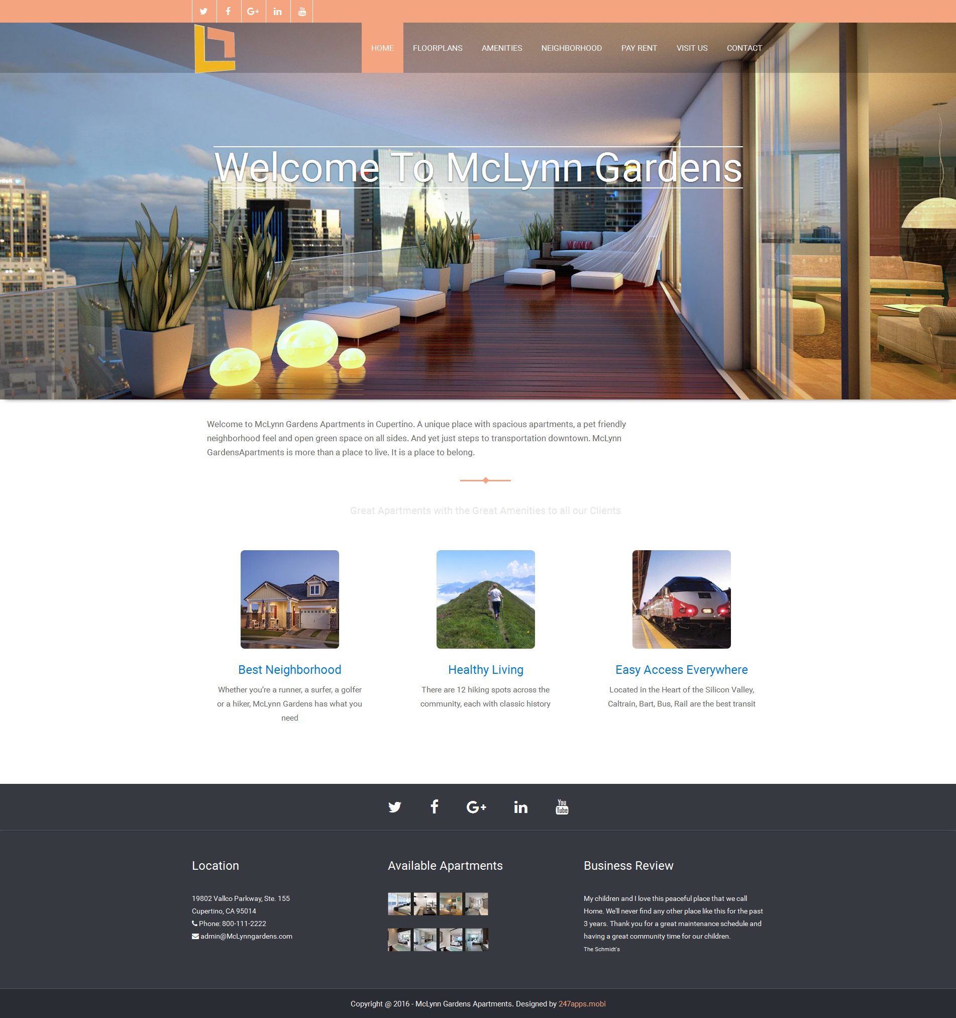Apartment website design property apartment design ideas for Apartment web design